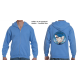 50-50 Full Zippered Hoodie with Blue Hen